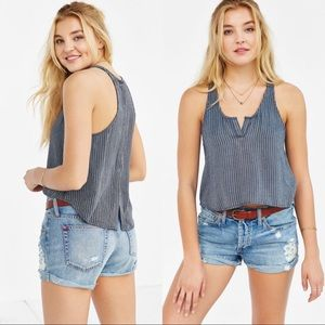 BDG Urban Outfitters Button Back Tank Top